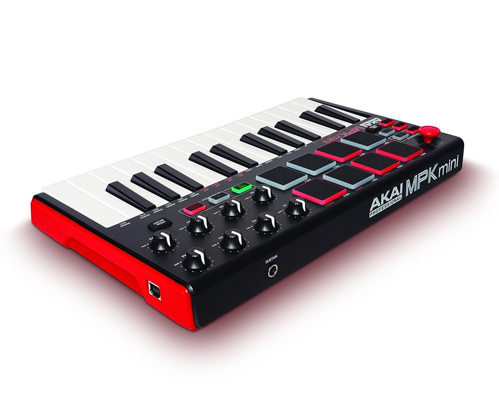 AKAI MPK Pro Midi Keyboard Rear