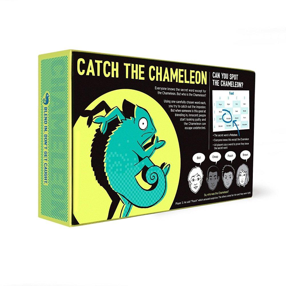 The Chameleon Board Game Box Back