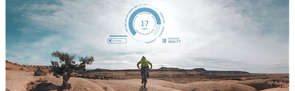 Garmin VIRB 360 Camera Data overlay