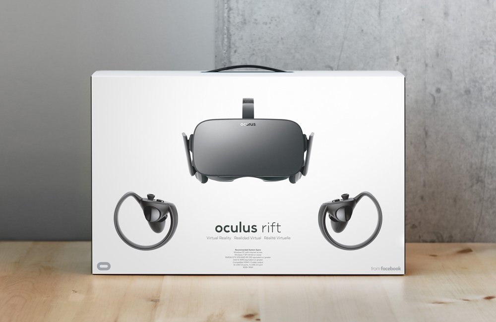 Oculus Rift and Touch Controllers Box Front